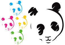 表面熊猫 免版税库存照片