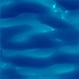 水表面的例证与太阳反射五颜六色的图象的 理想的游泳池、海和海洋纹理 免版税库存照片