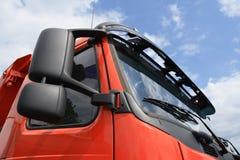 表面红色卡车 免版税图库摄影