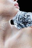 表面结霜的冰 免版税库存照片