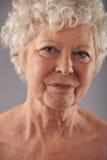 表面老妇人 免版税库存照片