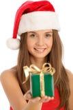 表面重点礼品妇女 免版税库存图片