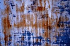 表面铁锈蓝色 图库摄影