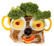 表面食物微笑 库存图片