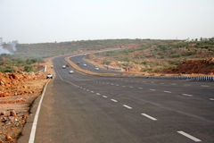 表面高速公路印度新的路 免版税库存图片