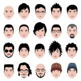 表面头发发型题头男人 免版税库存图片