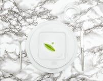 表餐位餐具利器玻璃水饮食概念舱内甲板位置 免版税图库摄影