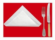 表-查出的餐位餐具 免版税图库摄影