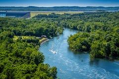 表Rock湖在密苏里西南部的布兰松 免版税库存照片