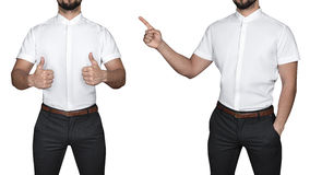 衬衣的人 免版税图库摄影