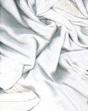 衬衣织地不很细白色 免版税库存图片