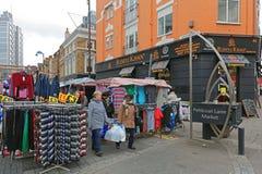 衬裙车道市场伦敦 免版税库存图片