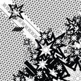衰退流概述的星形 免版税库存照片