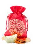 袋子中国礼品新年度 免版税库存图片