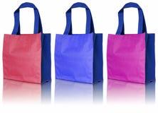 袋子五颜六色的棉花 免版税库存图片