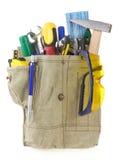 袋子传送带用工具加工白色 免版税库存照片