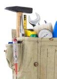 袋子传送带用工具加工白色 图库摄影