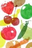 袋子副食品纸张放映式打印 库存照片