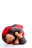 袋子包括自己人红色休眠年轻人 免版税库存照片