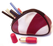 袋子化妆用品 免版税图库摄影