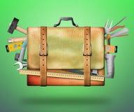袋子和工具 免版税库存图片
