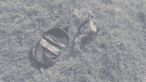 袋子和照相机 免版税库存图片