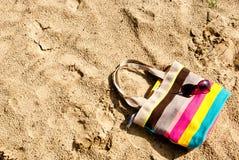 袋子和玻璃 免版税库存照片