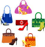 袋子和鞋子 免版税图库摄影