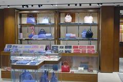 袋子商店在台北101购物的区 库存照片