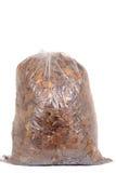 袋子回收的秋天叶子 免版税库存图片