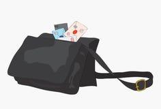 袋子在邮差上写字 免版税图库摄影