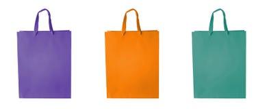 袋子块彩色组购物 免版税图库摄影