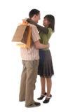 袋子夫妇购物 免版税库存照片