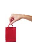 袋子女性礼品现有量藏品红色 免版税图库摄影