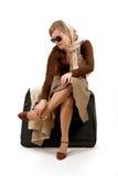 袋子巨大的妇女 免版税库存照片