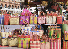 袋子市场  免版税库存图片