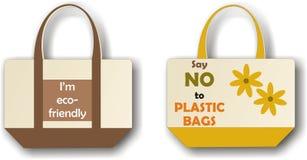 袋子布料eco 向量例证