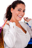 袋子愉快的藏品购物妇女年轻人 库存图片
