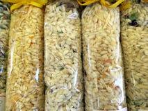 袋子意大利煨饭的米 免版税库存照片