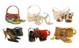 袋子收集鞋子 免版税图库摄影