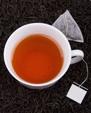 袋子杯子茶 图库摄影