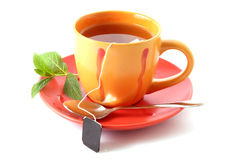 袋子杯子茶 免版税库存照片
