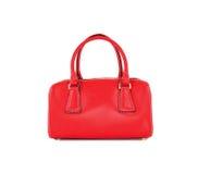 袋子查出的红色妇女 库存照片