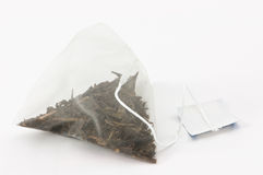 袋子查出的茶 免版税库存图片