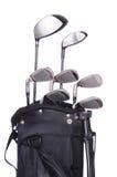 袋子棍打高尔夫球 免版税库存照片