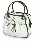 袋子棕色典雅的s白人妇女 库存照片
