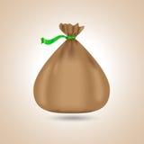 袋子棕色隔离白色 也corel凹道例证向量 免版税图库摄影