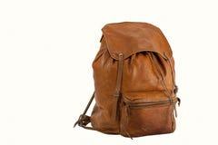 袋子棕色隔离白色 库存图片