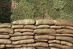袋子沙子墙壁 图库摄影