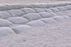 袋子沙子 免版税库存照片